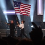 with flags between encores.